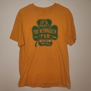 Old Navy mustard yellow graphic tee shirt